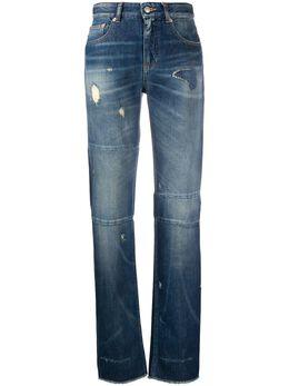 Mm6 Maison Margiela джинсы прямого кроя с эффектом потертости S62LB0038S30460