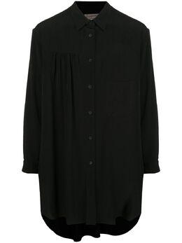 Yohji Yamamoto рубашка оверсайз со сборками HNB39500