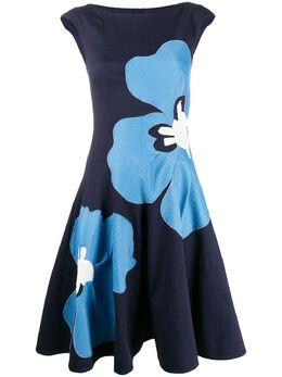 Talbot Runhof платье с цветочным принтом SOCHI1DI11