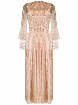 Temperley London расклешенное платье с бисером 20SQUE53349