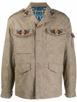 Etro куртка с бисером и узором пейсли 1S3087117
