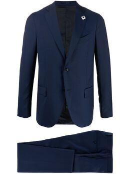 Lardini костюм-двойка с брошью на пиджаке EI861AVEIRP54490