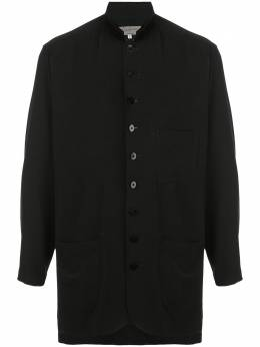 Yohji Yamamoto рубашка на пуговицах с воротником-стойкой HNB45500