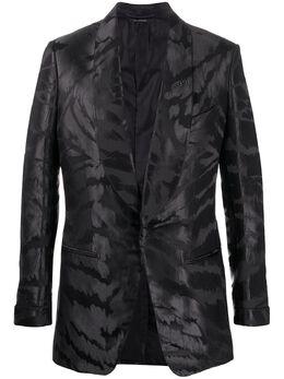 Tom Ford атласный пиджак-смокинг с узором 11MY40742R05