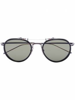 Thom Browne Eyewear солнцезащитные очки в круглой оправе TBS8155301