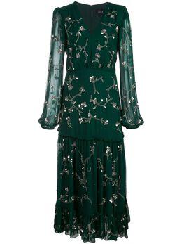Saloni декорированное платье Devon 1972129