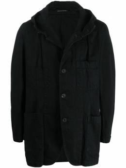 Yohji Yamamoto джинсовое пальто с капюшоном HNJ08005