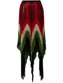 Gucci плиссированная юбка с асимметричным подолом 511245ZKQ89
