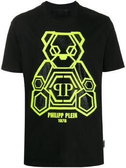 Philipp Plein футболка с принтом Teddy Bear S20CMTK4245PJY002N