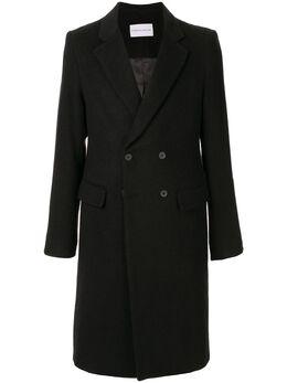 Strateas Carlucci фетровое пальто Plated Surgical SCSS20D1MCT001ABLK