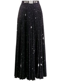 Christopher Kane плиссированная юбка с принтом SS20SK1290STARPOLYCADYBLACK