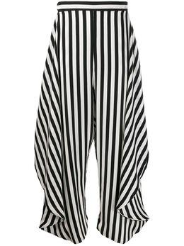 Stella McCartney брюки в полоску со вставкой 600809SOA48