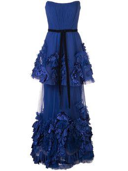 Marchesa Notte ярусное вечернее платье N34G1013
