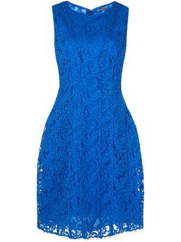 Adam Lippes расклешенное кружевное платье Seamed R20731CD
