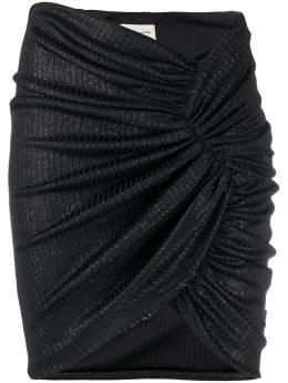 Alexandre Vauthier юбка со сборками и блестками 201SK1211