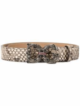 Dolce&Gabbana ремень DG Amore с тиснением под кожу змеи BE1335A2T95