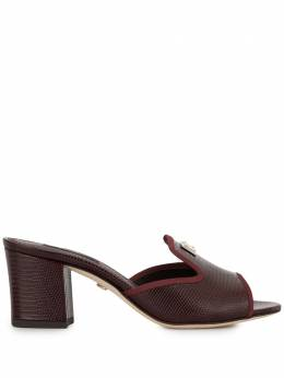 Dolce&Gabbana босоножки на блочном каблуке с тиснением под кожу ящерицы CR0143AE766