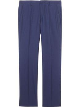 Burberry строгие брюки прямого кроя 8026711