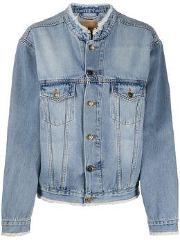 Alexandre Vauthier джинсовая куртка с бахромой 201JA813
