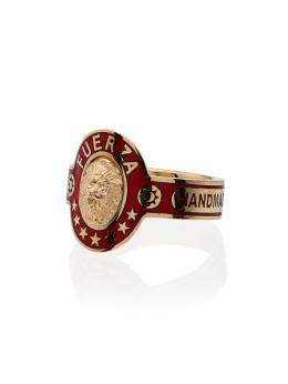 Foundrae cigar band 18kt gold ring MR1BIGDADDYCIGARBANDRED