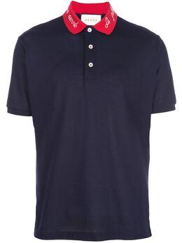 Gucci рубашка-поло с контрастным воротником 598958XJB0W