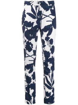 Talbot Runhof брюки кроя слим с цветочным принтом HIT11FB30