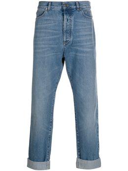 Balmain брюки прямого кроя с подворотами TH05754Z647