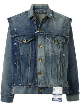 Maison Mihara Yasuhiro многослойная джинсовая куртка с заклепками A04BL023