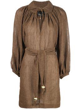 Lisa Marie Fernandez платье мини со сборками и поясом на завязках 2020RES266