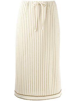 Gucci юбка миди в тонкую полоску 599177XKA3T