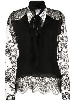 Faith Connexion блузка с кружевными рукавами W1737T00082