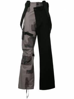 Maison Mihara Yasuhiro брюки с камуфляжной вставкой A04PT121