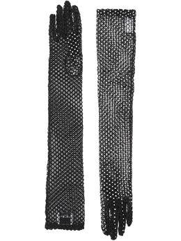 Burberry декорированные сетчатые перчатки 8025477