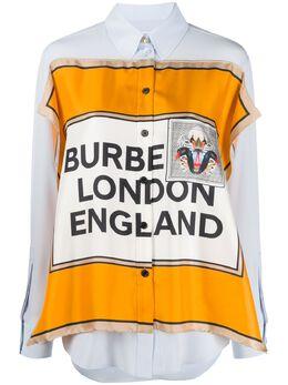 Burberry футболка с принтом Montage 4564225