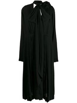 Victoria Beckham платье миди с шарфом 1220WDR001210A