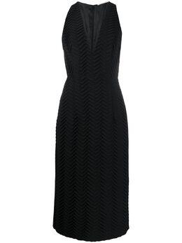 Marco De Vincenzo платье миди без рукавов с вышивкой MD5472MDVZI01