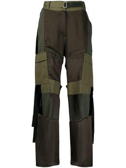 Sacai брюки карго с завышенной талией 2004902