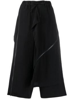 Yohji Yamamoto многослойные укороченные брюки NNP56500