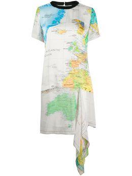 Sacai платье с принтом 2004988