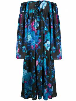 The Attico платье с открытыми плечами и цветочным принтом 201WCA41P025