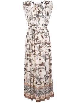 Saloni платье макси с принтом 10381