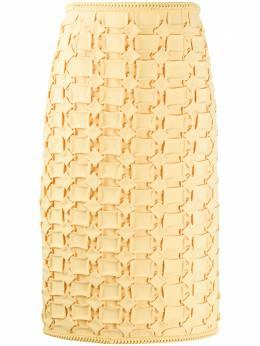 Marco De Vincenzo юбка миди с вышивкой MQ5220MDVGE01