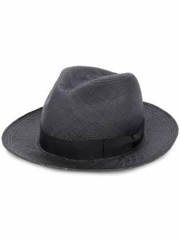 Yohji Yamamoto плетеная шляпа с бантом HNH02966