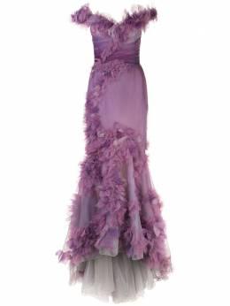 Marchesa платье-фиштейл из органзы M28806