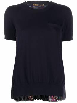 Sacai футболка с плиссированными вставками по бокам 2004839