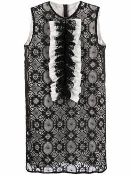 MSGM платье-трапеция с оборками и вышивкой 2842MDA268Y207306