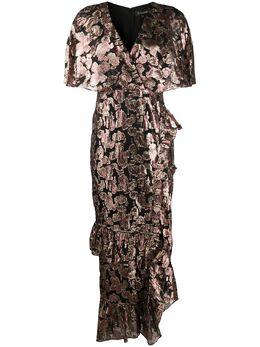 Saloni платье с эффектом металлик 1900791RP154953