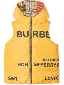 Burberry Kids двусторонний жилет с принтом Horseferry 8022602