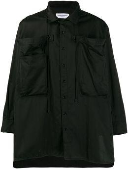 Marine Serre рубашка с объемными карманами T026SS20W