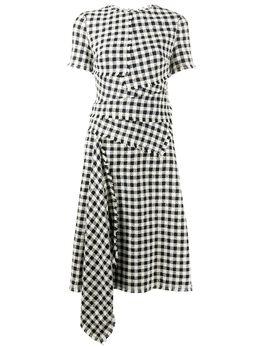 Oscar De La Renta драпированное платье в клетку гингем 20RN2492GHT